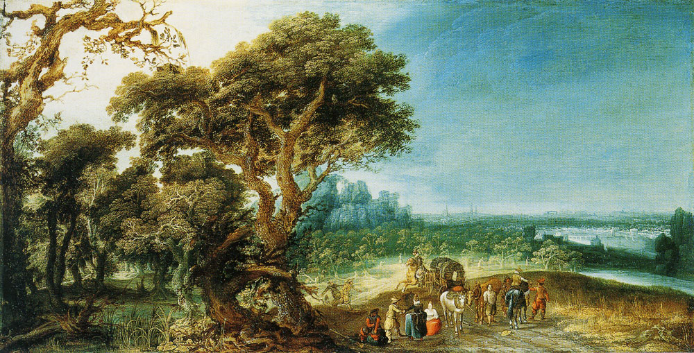 Jacob van Geel - Landscape with a Carriage Hold-Up