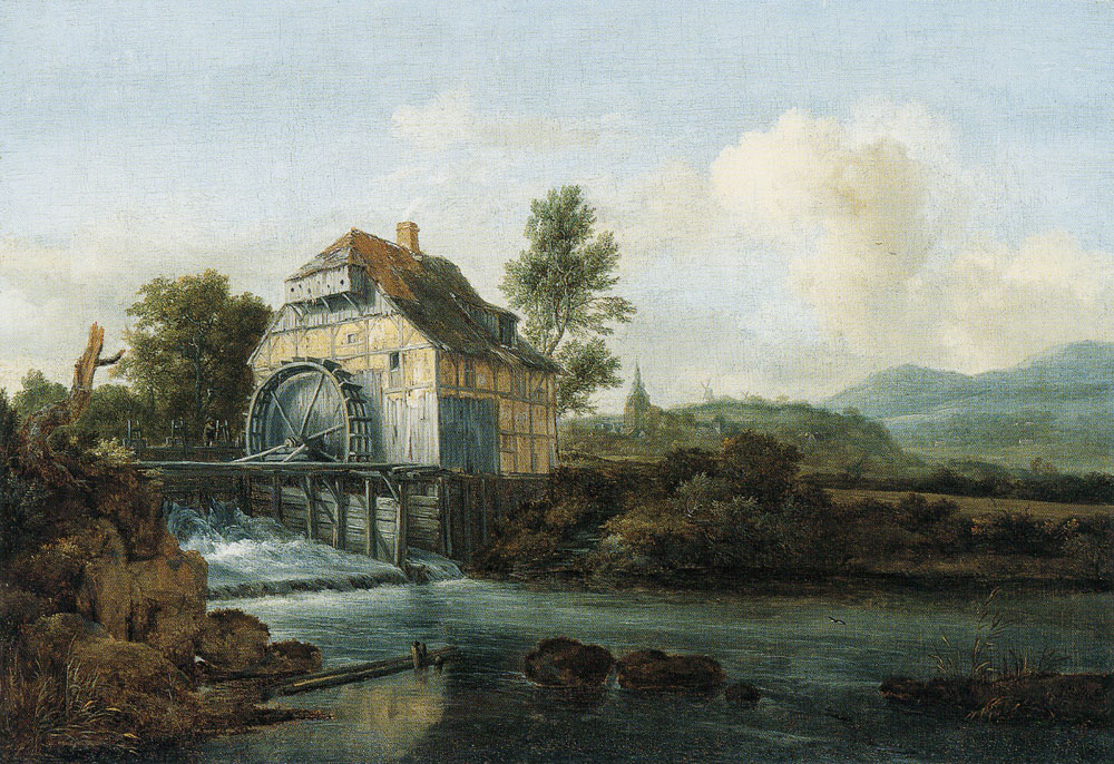 Jacob van Ruisdael - Landscape with a Water Mill