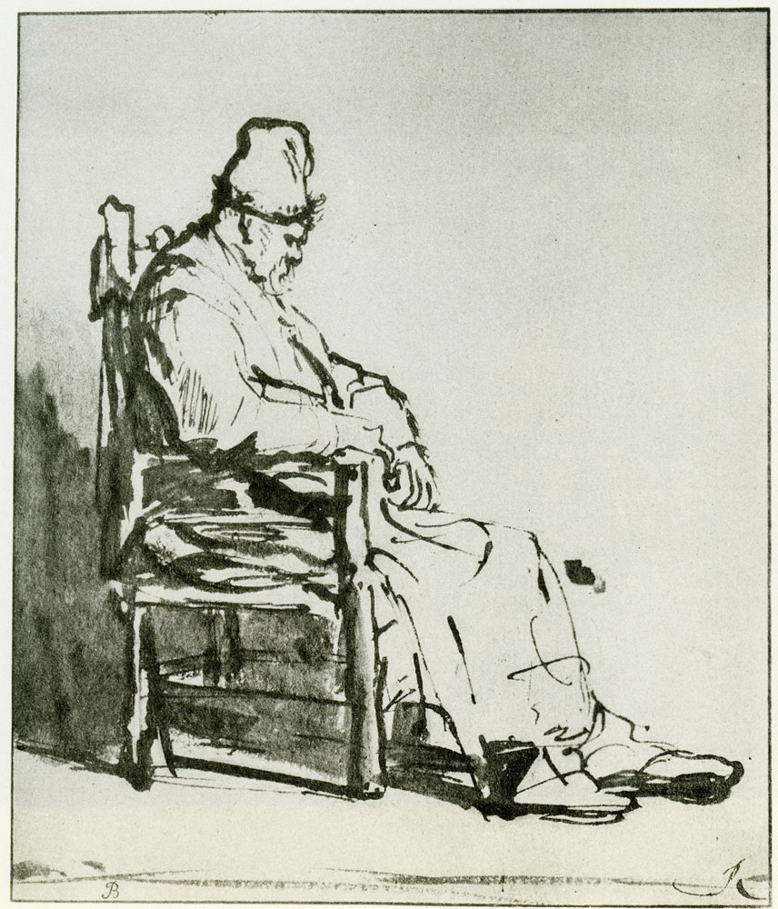 Rembrandt - Old Man in a High Cap