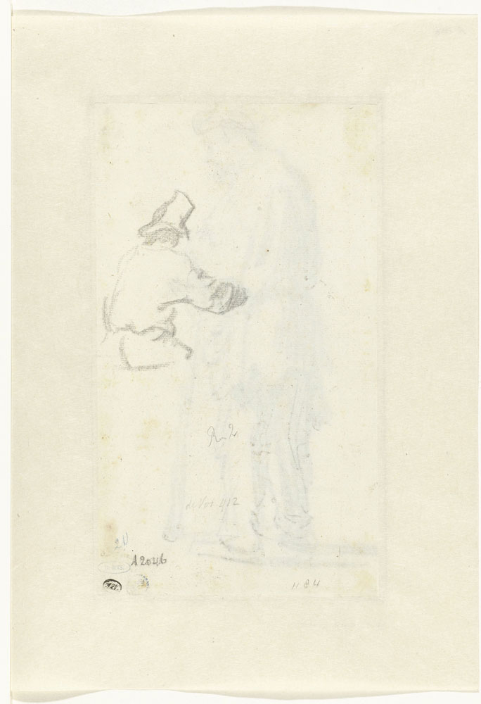 Rembrandt - Study of a Man Seen From Behind