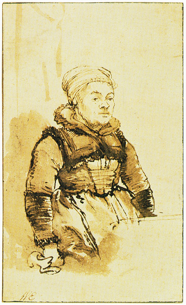 Rembrandt - A Woman in North Holland Costume