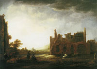 Aelbert Cuyp Landscape with the Ruins of Rijnsburg Abbey