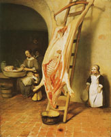 Barend Fabritius The slaughtered pig