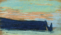 Claude Monet Êtretat, The Arch, and the Aval Cliff