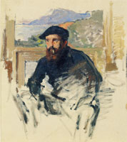 Claude Monet Self-Portrait in His Atelier
