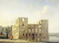 Jan ten Compe The rear façade of Berkenrode Castle after the fire of 1747