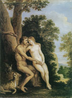 David Teniers the Younger Adam and Eve in Paradise