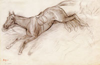Edgar Degas - The Bolting Horse
