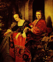 Ferdinand Bol Couple on a balcony