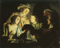 Gerard van Honthorst - Musical Group by Candlelight
