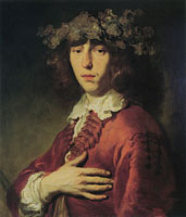 Jacob Adriaensz. Backer Man in a red Polish cloak, wearing a laurel wreath