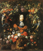 Jan Davidsz. de Heem Prince William III in a Cartouche with a Garland of Flowers and Fruit