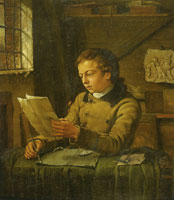 Jan Ekels the Younger A young artist drawing in his studio