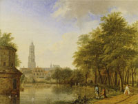 Jan ten Compe View of Delft