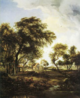 Meindert Hobbema A Farm in the Sunlight