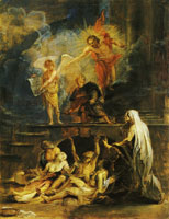 Attributed to Peter Paul Rubens St Roch as patron of the plague-stricken
