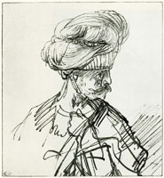 Rembrandt Bust of an Oriental in a Turban