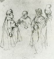 Rembrandt Four Men in Discussion
