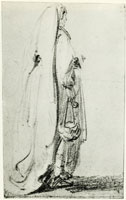 Rembrandt Standing Woman in a Long Veil