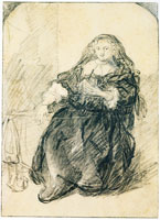 Rembrandt A Woman Seated in an Armchair with a Letter in her Left Hand