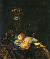 Willem Kalf Still Life with Columbine Goblet