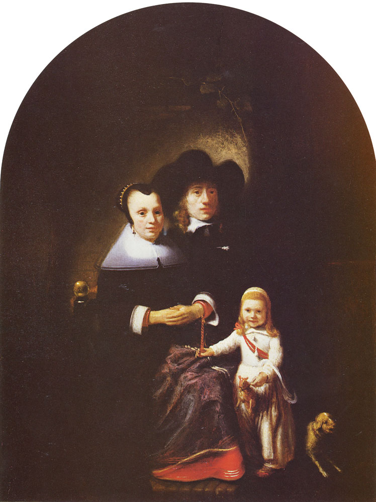 Nicolaes Maes - Family at a door