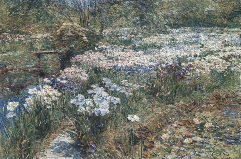 Childe Hassam - The water garden