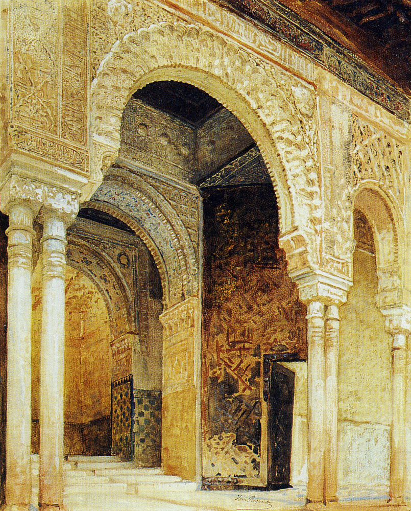Henri Regnault - The Alhambra, Granada: Entrance to the hall of the two sisters