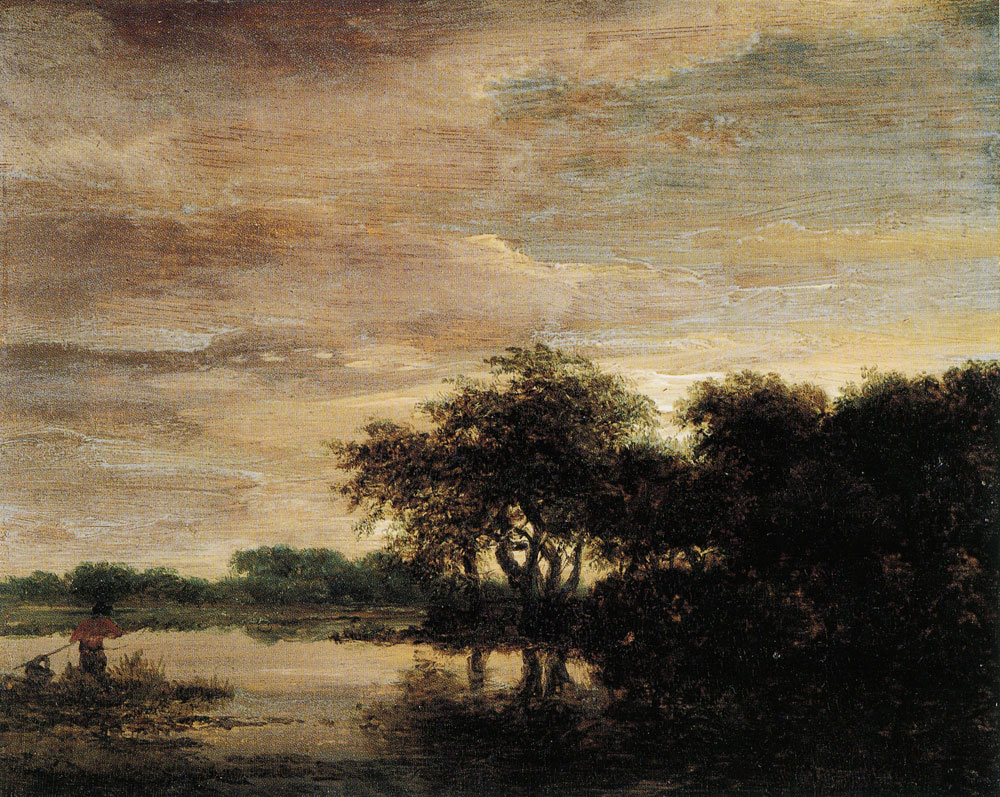 Jacob van Ruisdael - Forest landscape with a lake