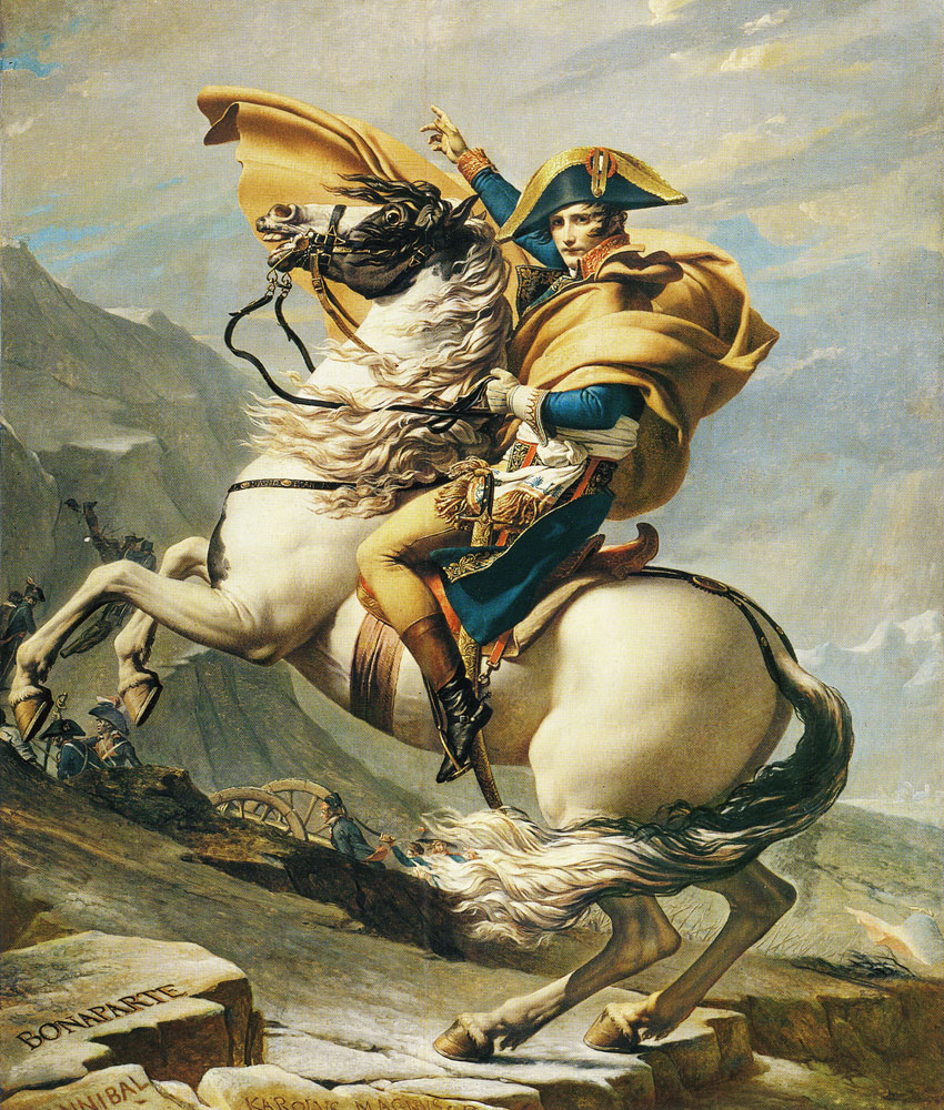 Jacques-Louis David - Napoleon Crossing the Alps