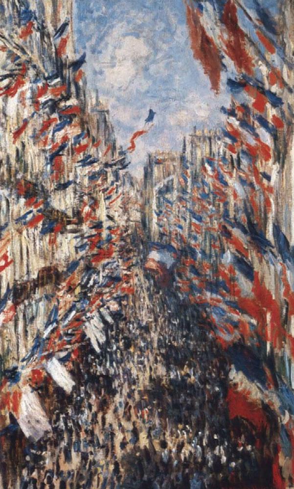 Claude Monet La Rue Montorgueil Paris During The