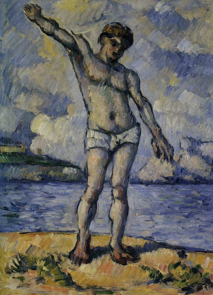 Paul Cézanne - Bather with outstretched arms (study)