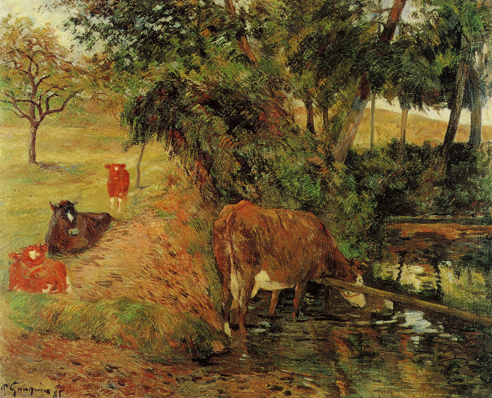 Paul Gauguin - Resting Cows