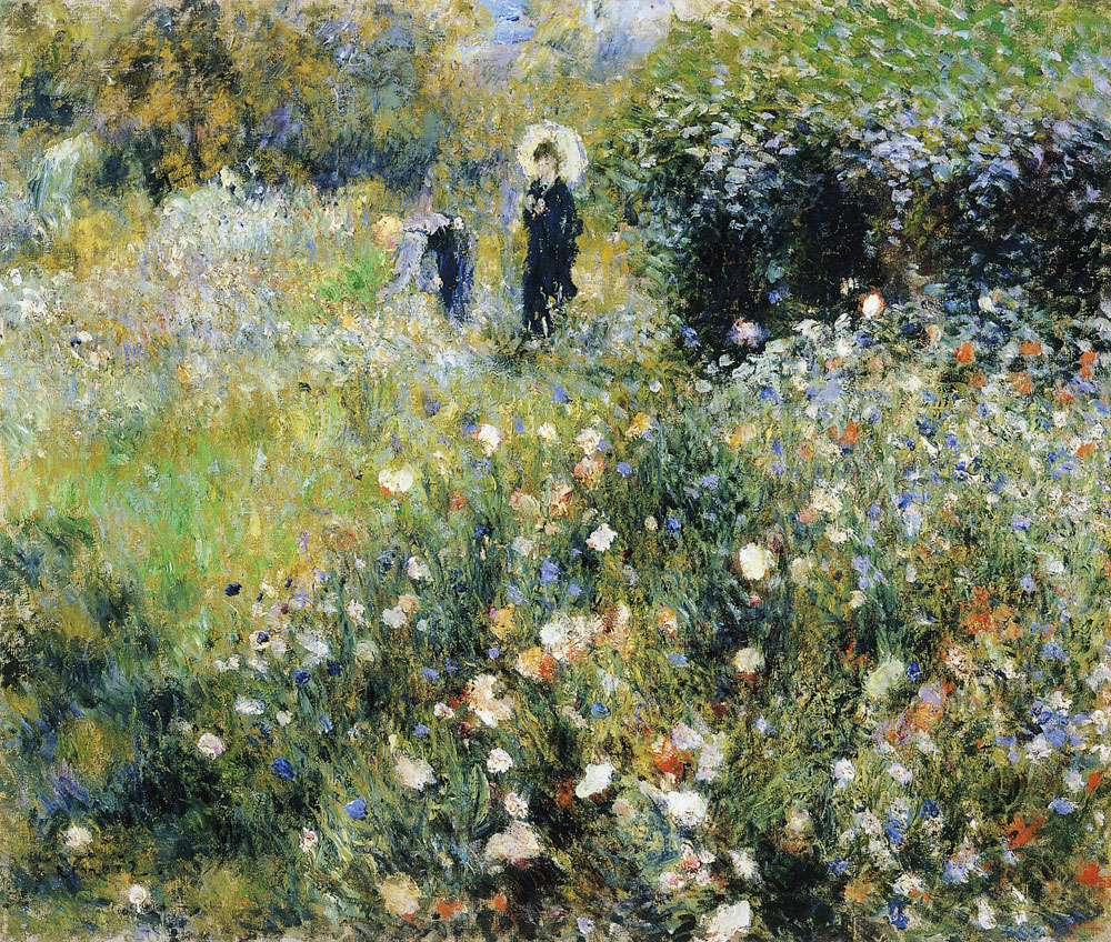Pierre-Auguste Renoir - Woman with a Parasol in a Garden