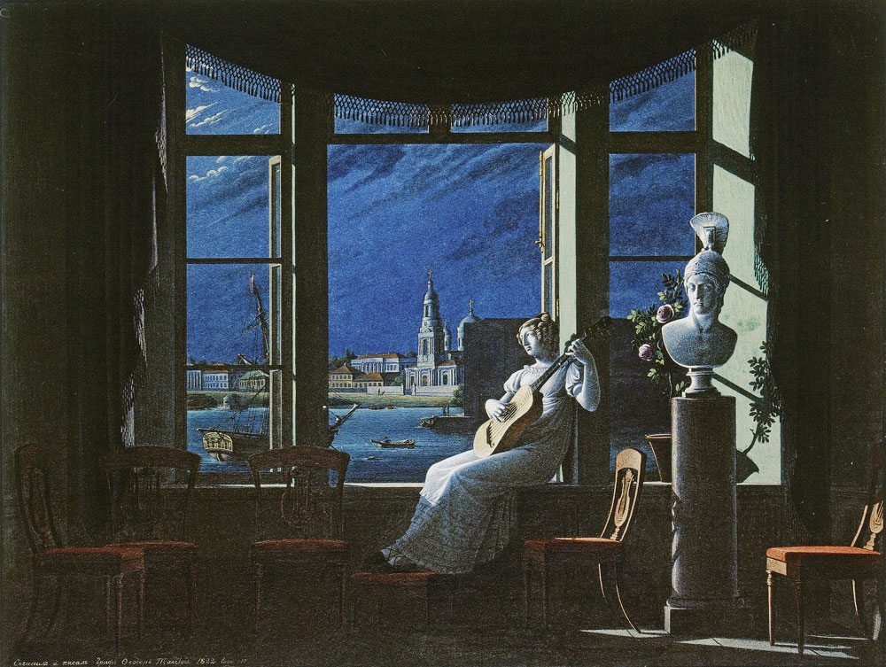 Fyodor Petrovich Tolstoy - At the Window in Moonlight