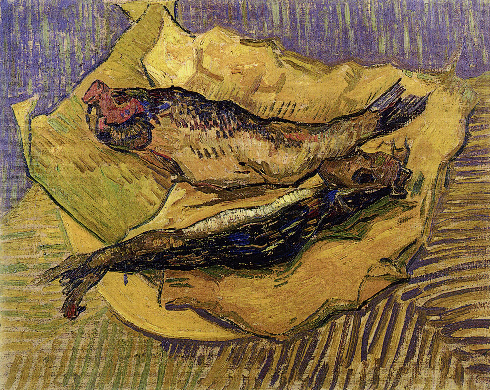 Vincent van Gogh - Bloasters on a Piece of Yellow Paper