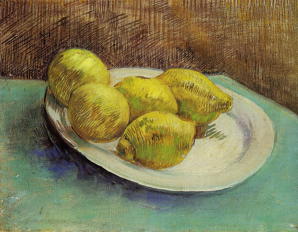 Vincent van Gogh - A plate with lemons