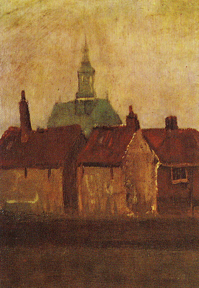Vincent van Gogh - The New Church and old houses in The Hague
