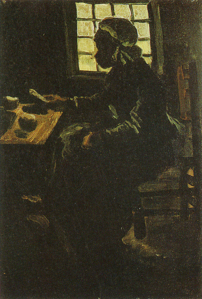Vincent van Gogh - Peasant woman at a meal, seen against the window