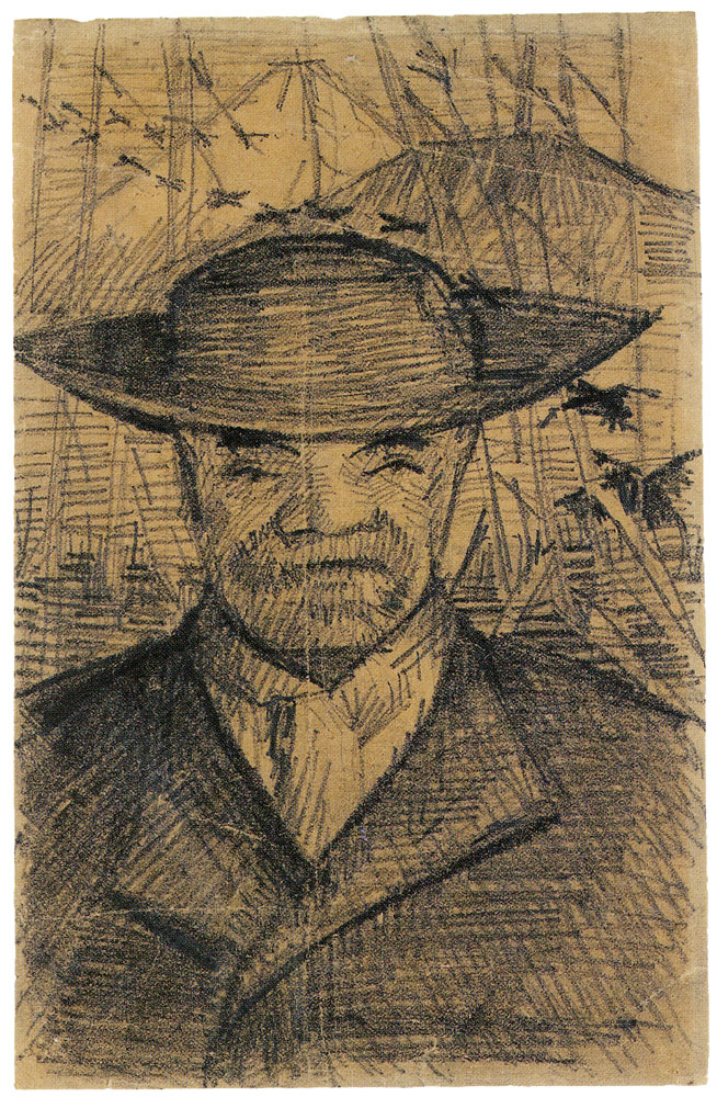 Vincent van Gogh - Portrait of Père Tanguy, Head
