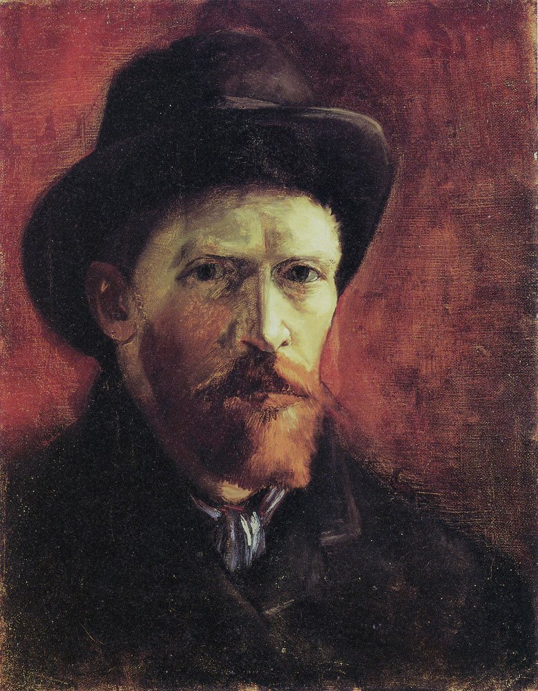 Vincent van Gogh - Self-portrait with dark hat