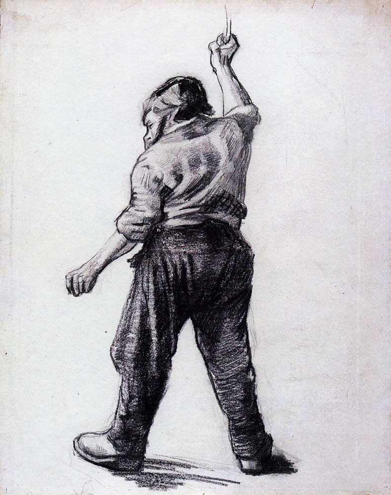 Vincent van Gogh - A Standing Man, Seen from the Back