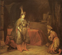 Aert de Gelder Judah persuades Jacob to consent the departure of Benjamin