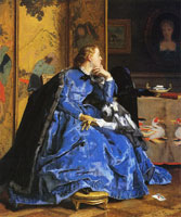 Alfred Stevens The Blue Dress