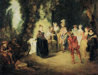 Antoine Watteau The French Comedy