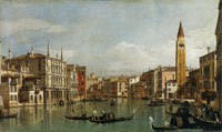 Canaletto The Grand Canal, Venice, Looking Southeast from the Campo della Carità to the Palazzo Venier delle Torreselle