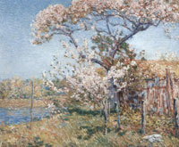Childe Hassam Apple Trees in Bloom