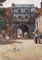 Childe Hassam Gateway, Canterbury cathedral looking out