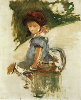 Edouard Manet Julie Manet Sitting on a Watering Can