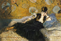 Edouard Manet The Lady with the Fans, Nina de Callias